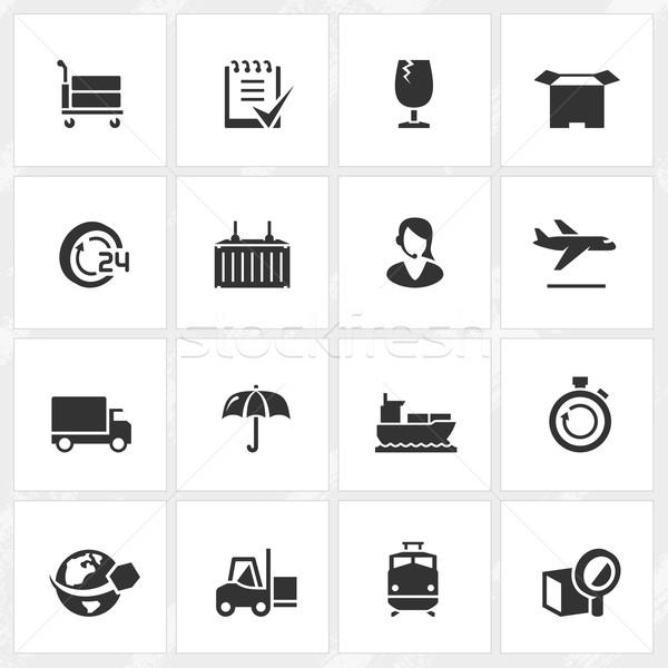 Logistica icone vettore file formato mondo Foto d'archivio © cajoer