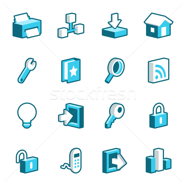 Internet and Web Site Icons Stock photo © cajoer