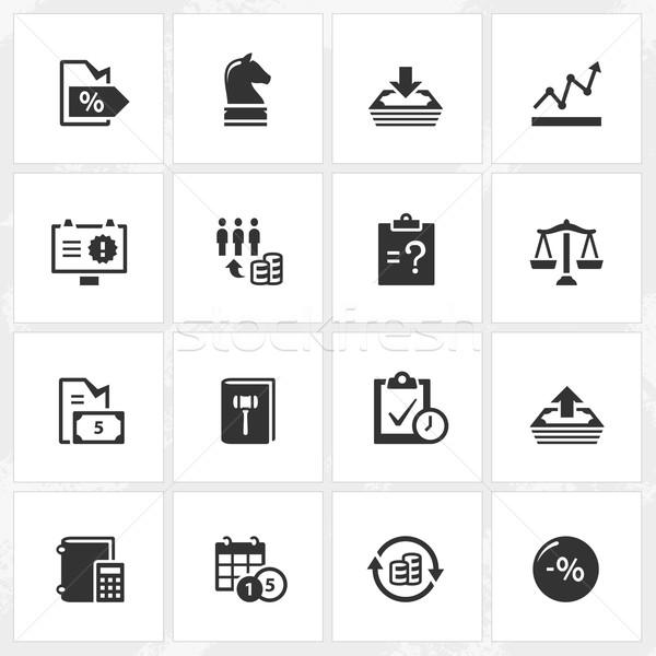 Negócio empresa ícones vetor arquivo formato Foto stock © cajoer
