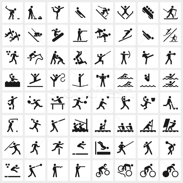 Sport Symbols Stock photo © cajoer