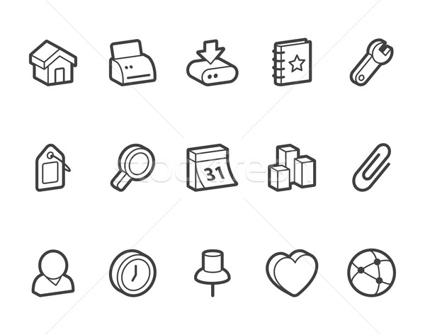 Stockfoto: Internet · pictogrammen · internet · vector · iconen · bestand · formaat