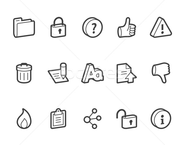Photo stock: Internet · vecteur · icônes · fichier · format