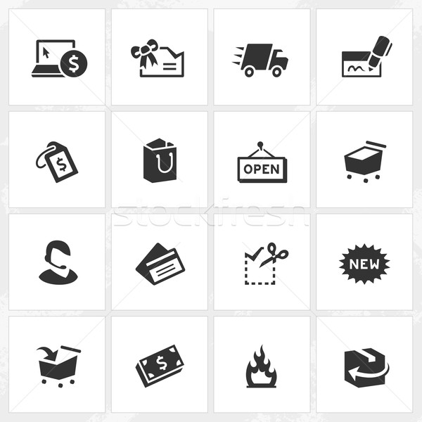 Shopping Icons Stock photo © cajoer