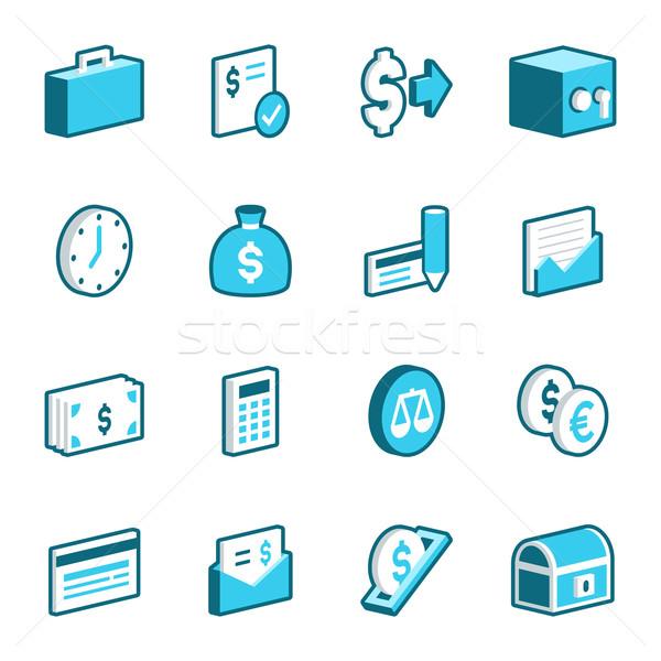 Finance and Economy Icons Stock photo © cajoer