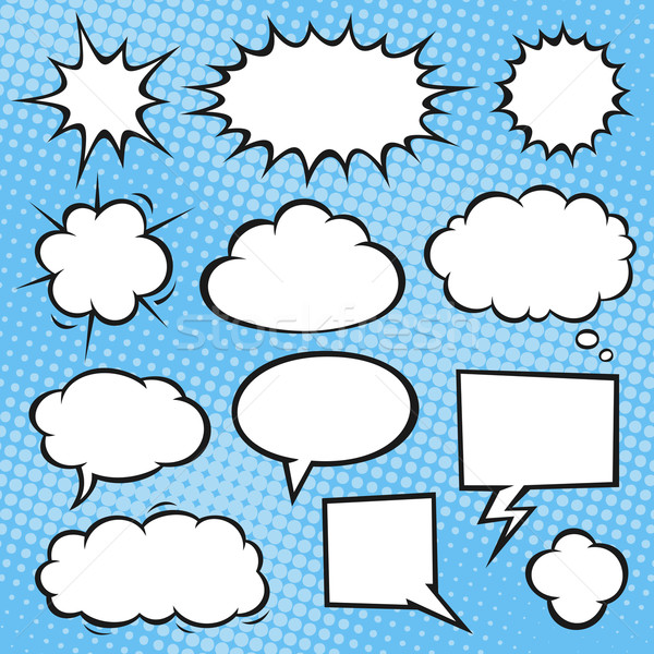 Comic Book Speech Bubbles Stock photo © cajoer