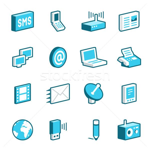 Media and Communication Icons Stock photo © cajoer
