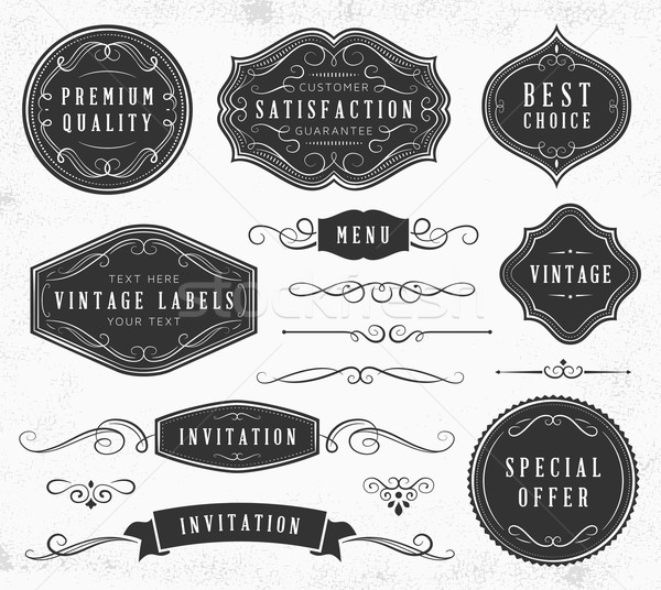 Vintage Ornaments and Labels Stock photo © cajoer