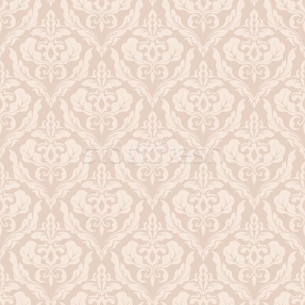 Régi tapéta minta bézs végtelenített klasszikus vektor Stock fotó © cajoer