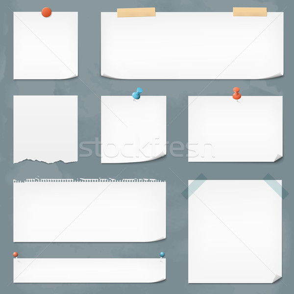 Vector Paper Notes Stock photo © cajoer