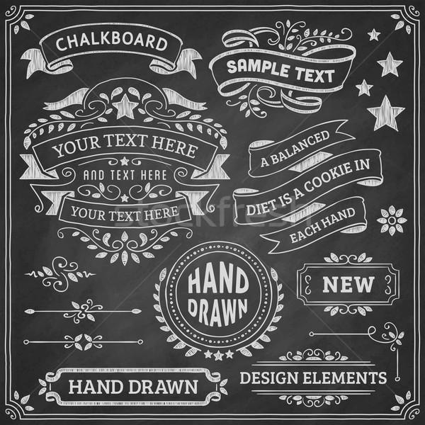 Schoolbord ontwerp communie ornamenten vector Stockfoto © cajoer