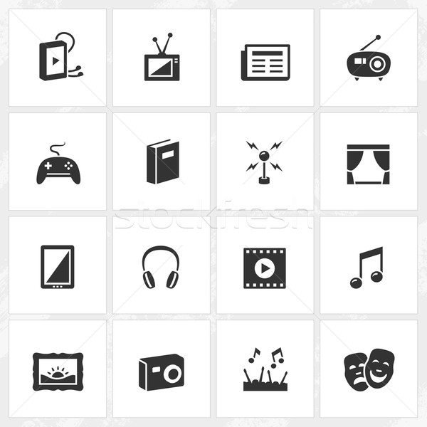 Culture and Entertainment Icons Stock photo © cajoer