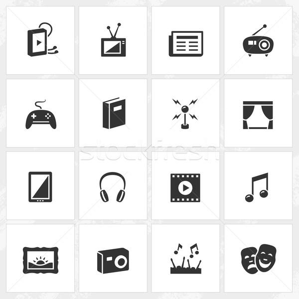 Cultura entretenimiento iconos vector archivo formato Foto stock © cajoer