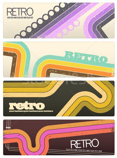 Retro Banners Stock photo © cajoer
