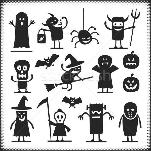 Halloween betűk vektor izolált fehér karok Stock fotó © cajoer