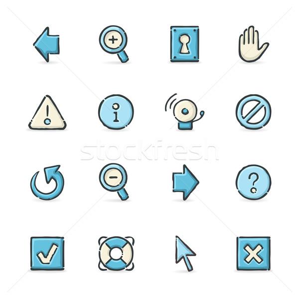 Internet pictogrammen Blauw beige bestand formaat Stockfoto © cajoer