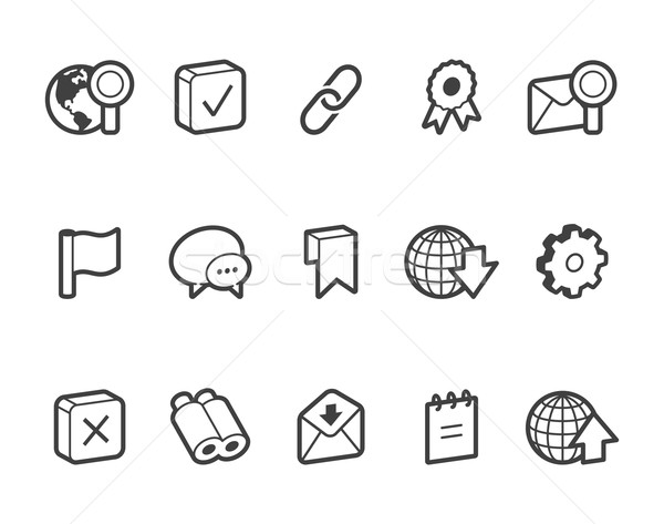 Internet and Website Icons Stock photo © cajoer