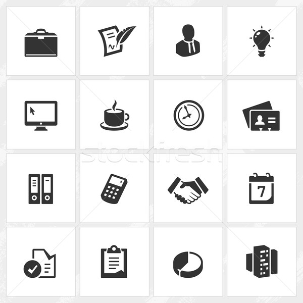 Business Icons Stock photo © cajoer