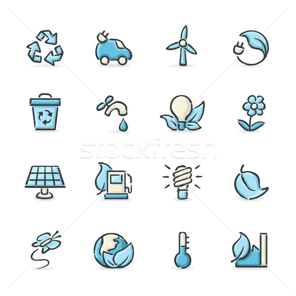 Green Technology Icons Stock photo © cajoer