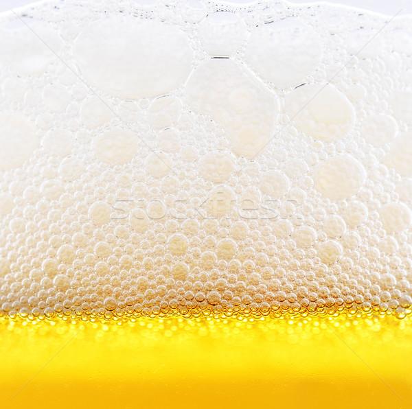 Bulles jaune détail bière résumé design Photo stock © Calek