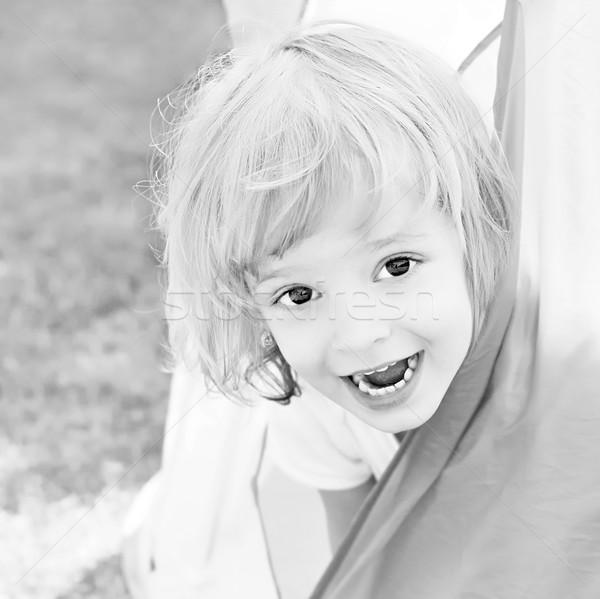 Tente souriant fille visage yeux modèle Photo stock © Calek