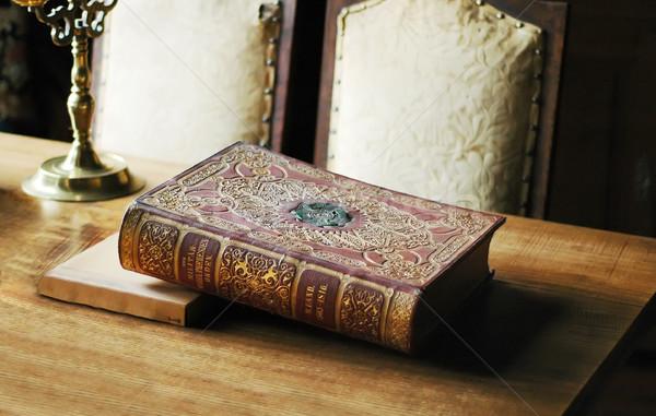 Boek oude geschiedenis tabel textuur hout Stockfoto © Calek