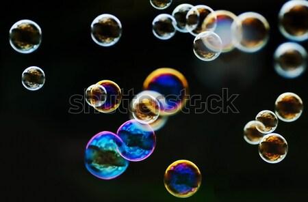 Bubbels regenboog bubble blazer water partij Stockfoto © Calek