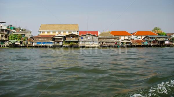 Nehir Bangkok Tayland su Asya Cityscape Stok fotoğraf © Calek