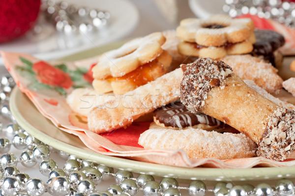 Рождества Cookies цветок фон группа красный Сток-фото © Calek