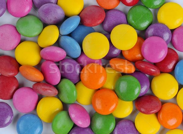 конфеты цветами шоколадом продовольствие фон синий Сток-фото © Calek