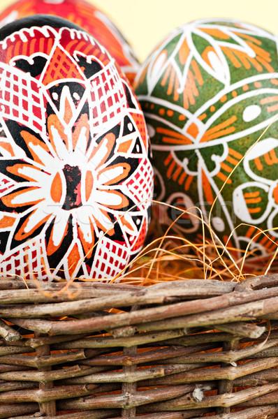 Mand Pasen geschilderd eieren ontwerp Stockfoto © Calek