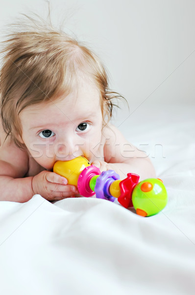 Juguete bebé jugando nina mano educación Foto stock © Calek