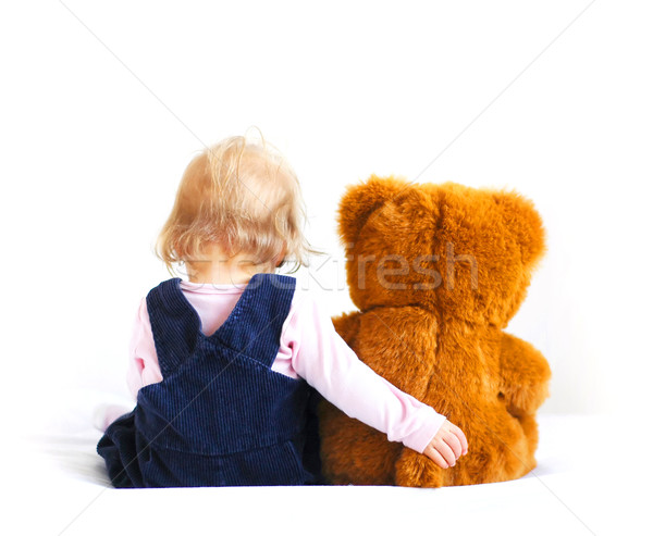 Baby and bear Stock photo © Calek