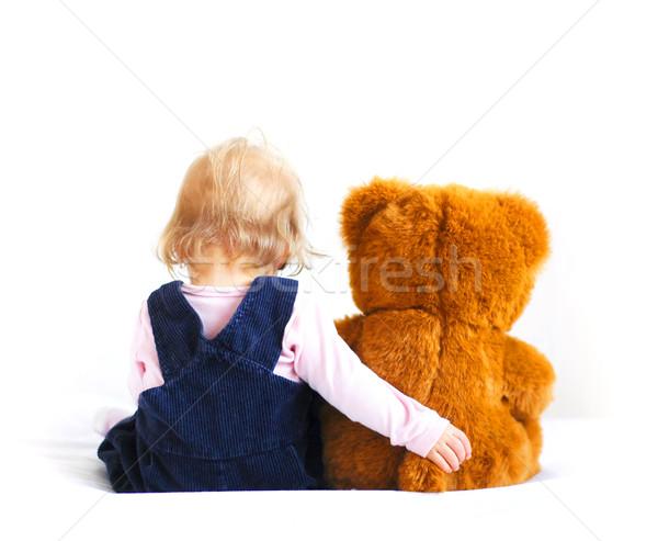 Baby beer weinig teddybeer hand Stockfoto © Calek
