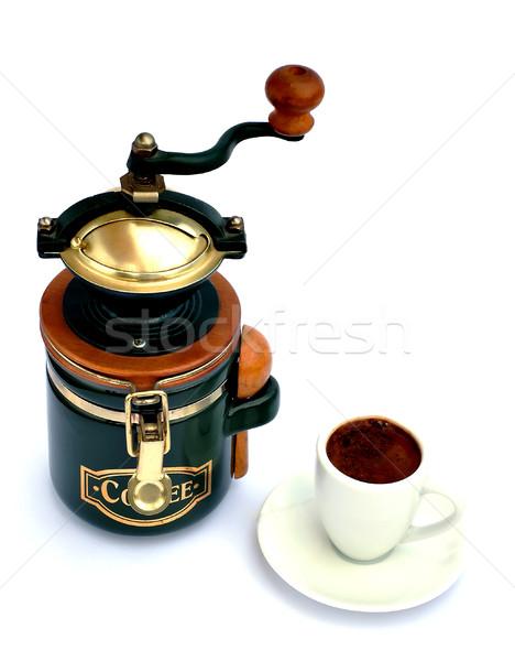 Beker witte textuur voedsel koffie Stockfoto © Calek