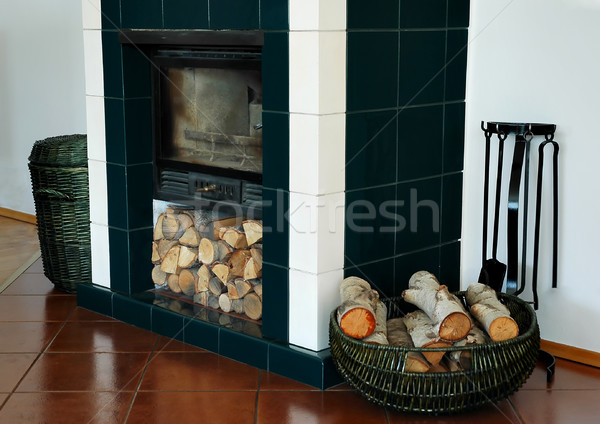 Fire and basket Stock photo © Calek