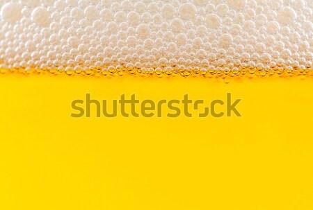 пузырьки желтый подробность пива аннотация дизайна Сток-фото © Calek