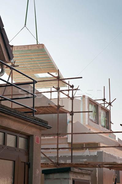 Huis gebouw nieuwe laag energie hemel Stockfoto © Calek