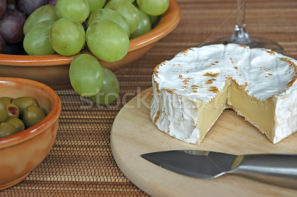 Photo stock: Fromages · raisins · olives · couteau · alimentaire · fête