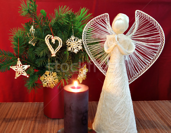 Angel and candle 2 Stock photo © Calek