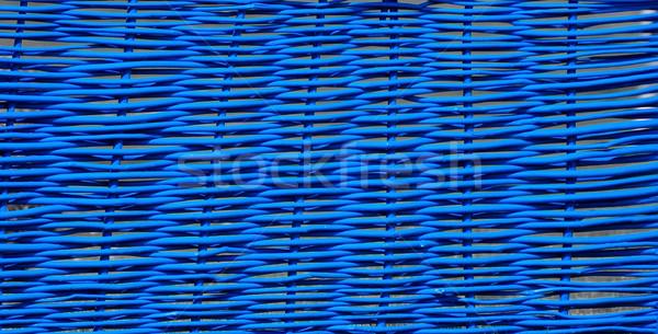 Blauw hek abstract bamboe shot materiaal Stockfoto © Calek