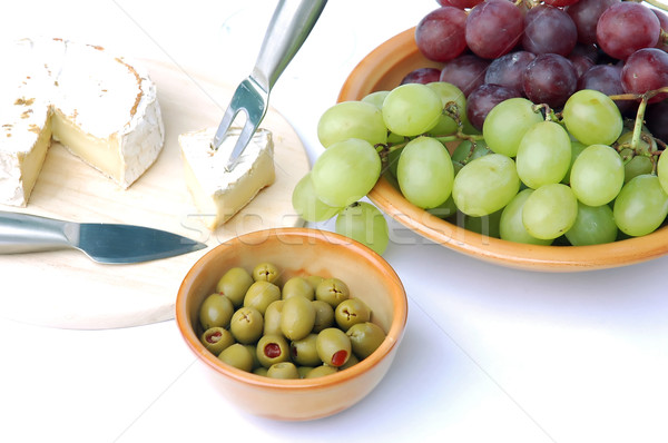 Olives and cheese Stock photo © Calek