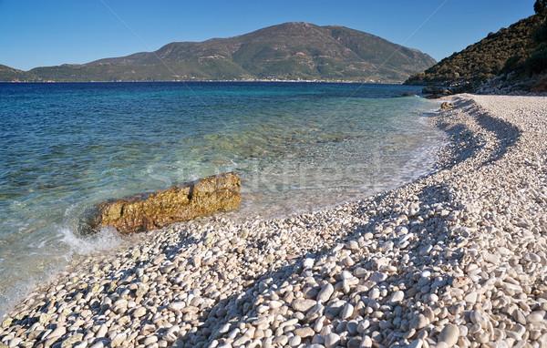 Plage blanche caillou île mer été Photo stock © Calek