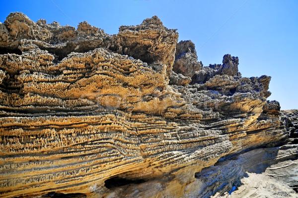 砂岩 岩 海岸 島 壁 風景 ストックフォト © Calek
