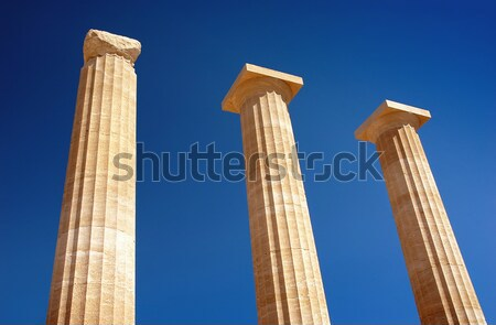 Columnas histórico mojón edificio resumen azul Foto stock © Calek