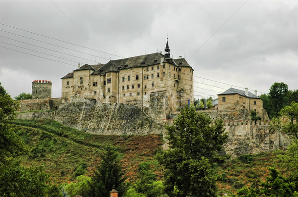 Historisch kasteel Tsjechische Republiek Europa hemel bos Stockfoto © Calek