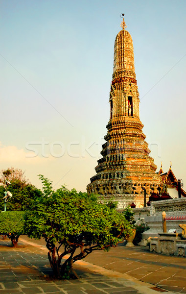 Temple Bangkok Thaïlande architecture culture luxe Photo stock © Calek