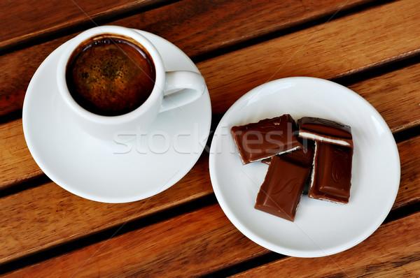 Coffee and  chocolate Stock photo © Calek