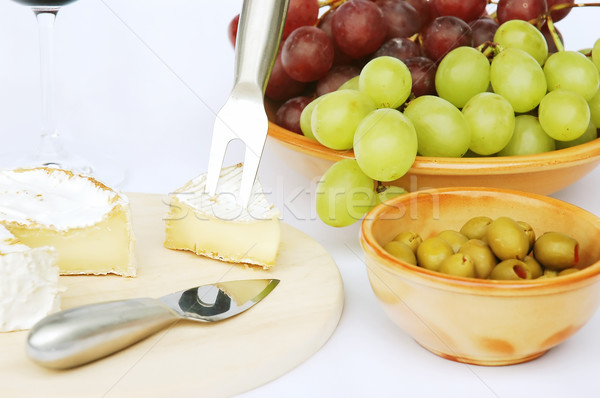 Cheese and olives Stock photo © Calek