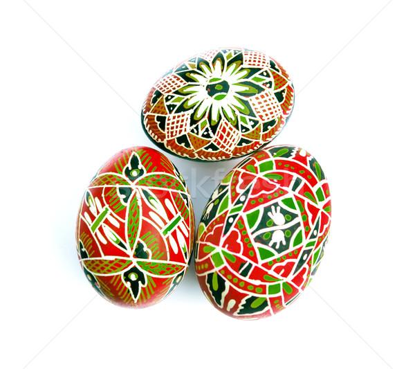 Peinture oeufs Pâques décorations œufs de Pâques design Photo stock © Calek