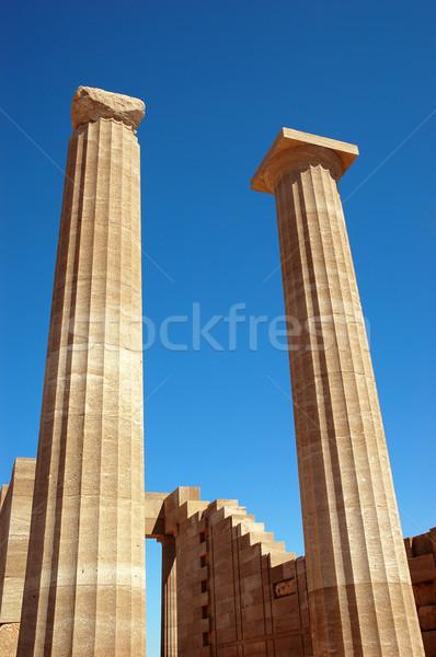 колонн исторический ориентир здании аннотация синий Сток-фото © Calek